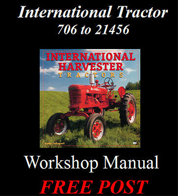 International 706 756 806 856 To 21456 Workshop Manual On Cd