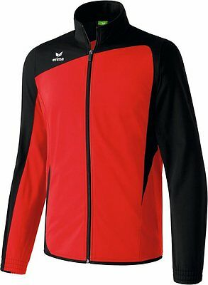 Erima Club 1900 Shiny Trainingsjacke, Kinder, Gr. 1/140, Rot/Schwarz, UVP 29,95