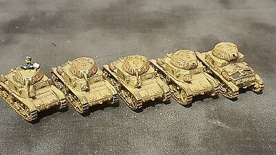 Flames Of War Italian P40 Tanks Lot Of 5 With Commander Well Painted