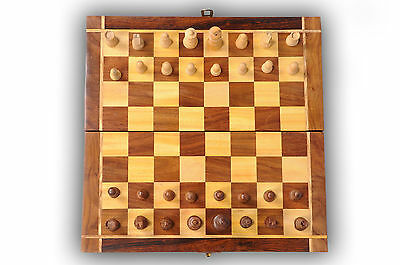 Legendary Brand New Hand Crafted Pearl Wooden Chess Set 25cm x 25cm 'FREE DELV'
