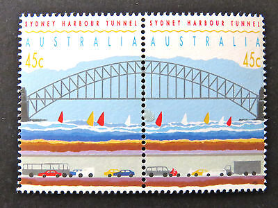 Australian Decimal Stamps:1992 Opening Sydney Harbour Tunnel - Set of 2 MNH