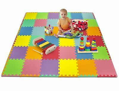 Matney Foam Mat Puzzle Piece Play Mat Set Safe for Kids to Play & Learn, 36pcs!