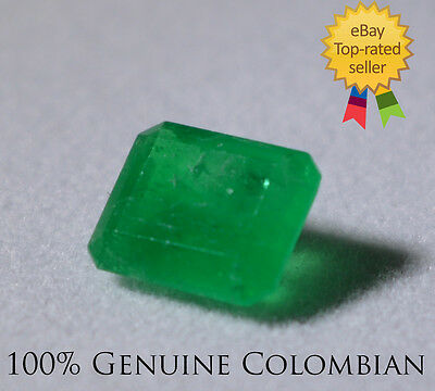 .975 Carat Naturally Mined Colombian Emerald!