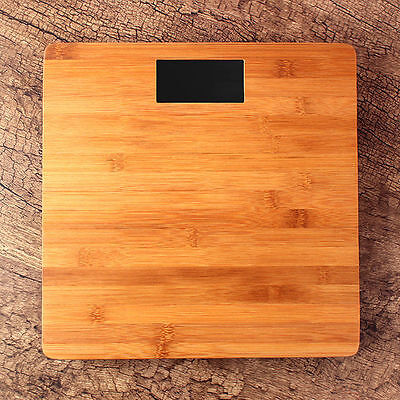 """30cm 12""""  Digital Wooden Weight Measurement Body Scale Health Scale Max 180kg"""