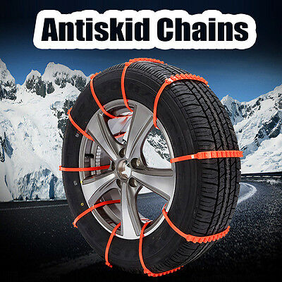 New 10Pcs Winter Anti-skid Chains fo Car Snow Wheel Tyre Tire Thickened Tendon