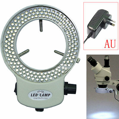 144 LED Bulbs Microscope Ring Light Lamp Illuminator Adjustable Brightness New