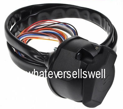 1.5m PRE WIRED 13 PIN TRAILER ELECTRICS sheathed cables SOCKET for towing