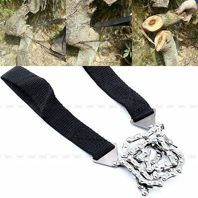 Camping Hiking Outdoor Emergency Survival Tool Gear Pocket Chain Saw ChainSaw DH