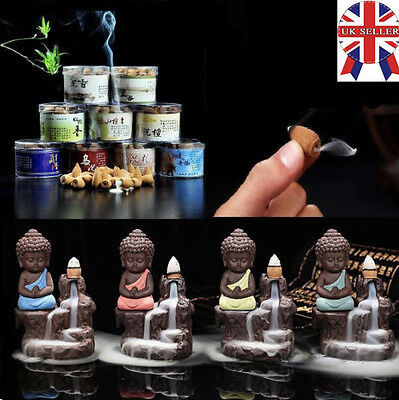Ceramic Handicraft Little Monk Smoke Backflow Cone Decoration Incense Burner