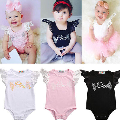 Newborn Infant Baby Jumpsuit Bodysuit Romper Toddler Girl Clothes Outfit 0-18M