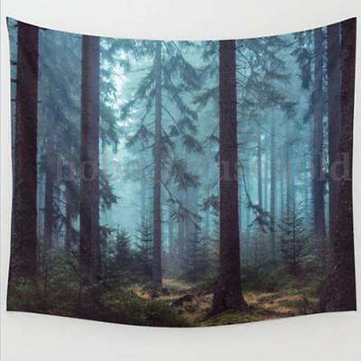 Indian Forest Wall Hanging Tapestry Mandala Bohemian Bedspread Cover Dorm Decor