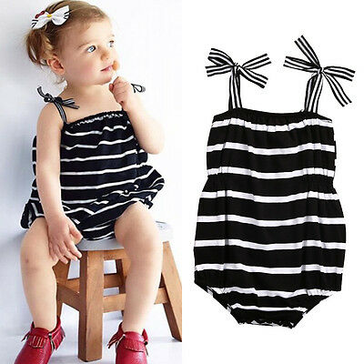 Newborn Infant Baby Girls Bodysuit Romper Jumpsuit Outfits Sunsuits Set Clothes