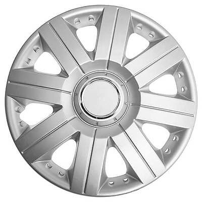 TopTech Torque 14 Inch Boxed Wheel Trim Set of 4 Silver Hub Caps Covers