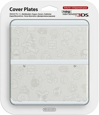 New Nintendo 3DS Cover Plate Mario White Faceplate No 010 Sealed