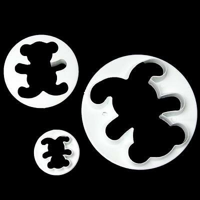 Cookie Baking Tool Fondant Cake Decorating Mould Cutter Mold Teddy Bear