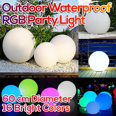 Outdoor LED Glow Ball Mood Lighting Waterproof Lamp Wedding Party Decor 60cm
