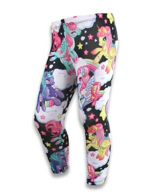 Six Bunnies Black Pegasus Leggings Girls MLP Pony Unicorn Punk Cool Different