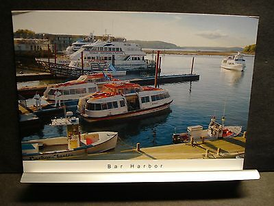Bar Harbor, Maine Boat GALAXY Naval Cover unused postcard WHALE WATCHING