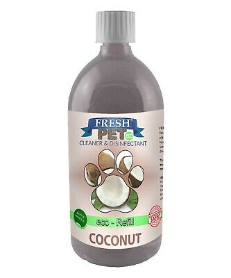 1L FRESH PET Super Concentrate DOSING BOTTLE Kennel Disinfectant - COCONUT