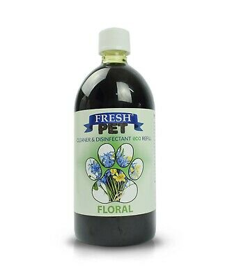 1L FRESH PET Super Concentrate DOSING BOTTLE Kennel Disinfectant - FLORAL