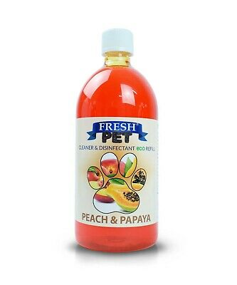 1L FRESH PET Super Concentrate DOSING BOTTLE Kennel Disinfectant - PEACH