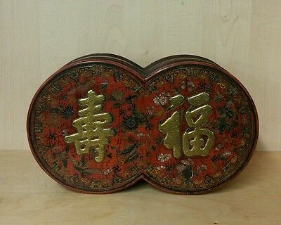 A Chinese gilt and Lacquered papier mache box
