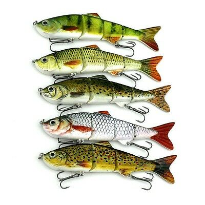 Minnow Fishing Lures  Sinking Popper Crank Bait Hooks  Bass Tackle