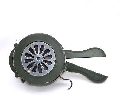 Handheld Loud Hand Crank Manual Operated Air Raid Alarm Portable Siren Army Gr