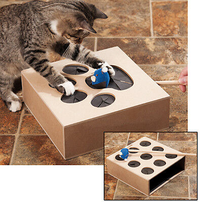 Hugs Whack A Mouse Interactive Cat Toy Includes Mouse Double Sided