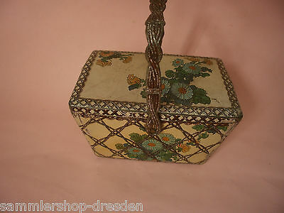 17354 Bahlsen Blechdose 1910 Jugendstil Henkel Truhe tin gut handle trunk good