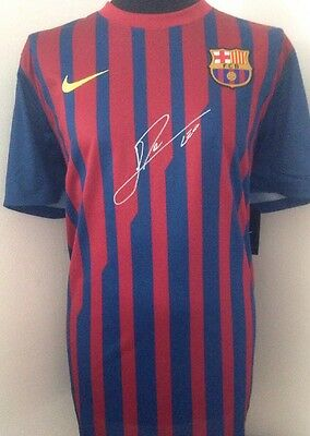 Barcelona FC Shirt Signed By Lionel Messi With Letter Of Guarantee