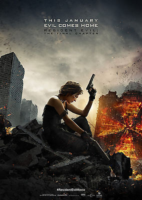 Resident Evil: The Final Chapter (2016) V4 - A1/A2 POSTER **SEE OFFER**