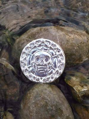 Solid Silver Round 2.5 oz Pirate Doubloon 3D Medal Silver Bar