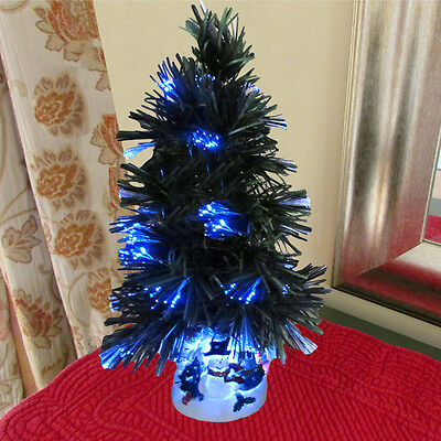 Evelots® Mini Christmas Tree Fiber Optics Artificial With LED And Stand