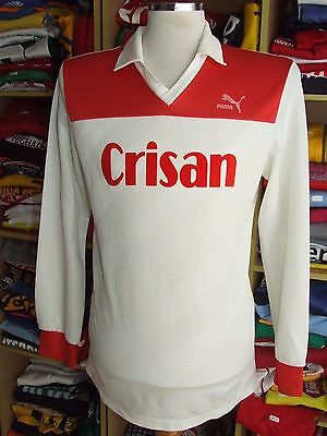 Vintage Trikot Puma Crisan (L)#5 Weiss Rot Fussball Shirt West Germany Jersey