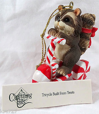 Charming Tails Ornament Tricycle Built From Treats