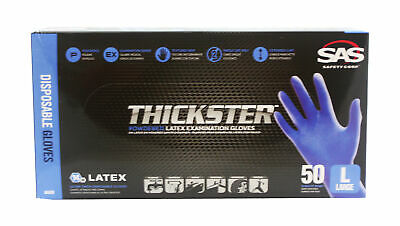 SAS 6602, 6603, 6604 Thickster Textured Safety Latex Gloves (1 Box)