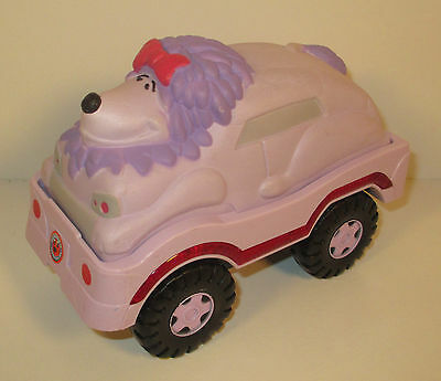 """2007 Cleo the Purple Poodle 6"""" Car Clifford The Big Red Dog"""