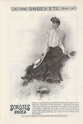 1903 A E Little & Co Lynn MA Ad: Sorosis Shoes Woman on Midwinter Vacation Trip