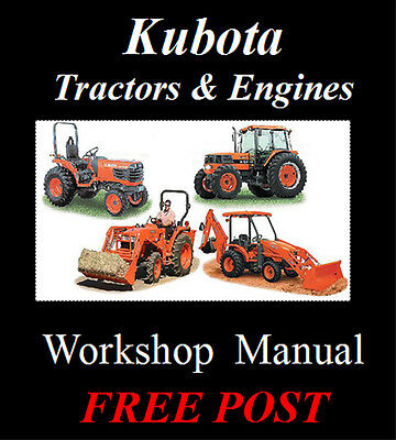 Kubota Tractor L & B Series & 03 05 Engines Workshop Service Repair Manual On Cd