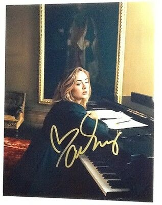 Adele Color 8x10 Photograph Signed in Gold Marker w/ COA