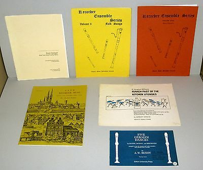 Recorder Ensemble Music Books Lot (6 Books) SATB - Soprano, Alto, Tenor, Bass