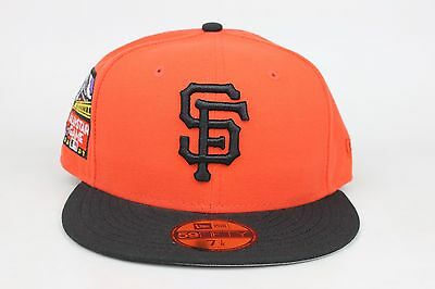 pretty nice 990e6 a76bd ... low cost san francisco giants orange black 2007 all star game new era  59fifty fitted hat ...