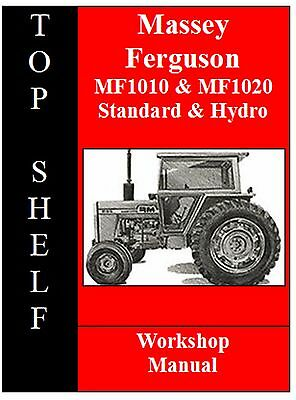 Massey Ferguson 1010 & 1020 Workshop Service Repair Manual Cd