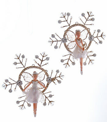 Katherine's Collection Set of Two Fairy on Snowflake Ornaments 28-683052