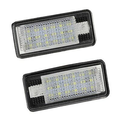 2x 18 LED License Number Plate Light Lamp For Audi A3 S3 A4 S4 B6 A6 S6 A8 S8 FK