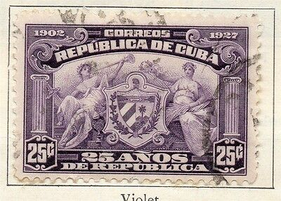 Spanish Caribbean 1927 Early Issue Fine Used 25c. 113717