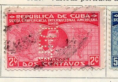 Spanish Caribbean 1928 Early Issue Fine Used 2c. Hole Punched 113720