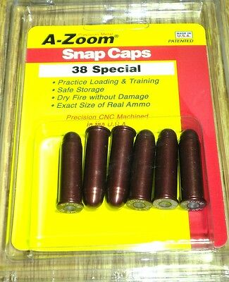 A-Zoom  Pachmayr Snap Caps, 38 Special, 6 pack, 16118