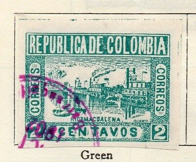 Colombia 1902-03 Early Issue Fine Used 2c. Imperf 115346